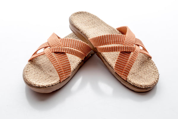 Shangies Danish Sandals in Blue Stripes EU 37-38  / UK 4-5