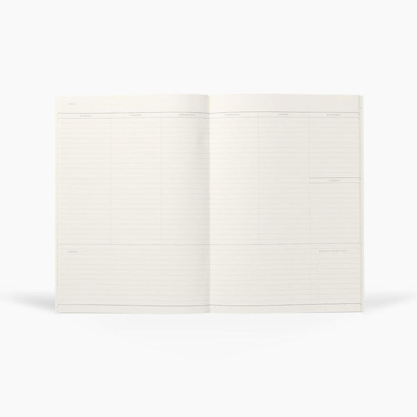 Weekly Planner Notebook MILO - Grey - by Notem Studio