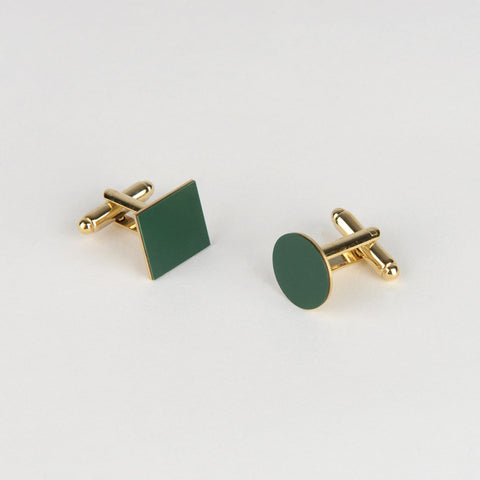 Mix Match Cufflinks - Forest Green - Tom Pigeon