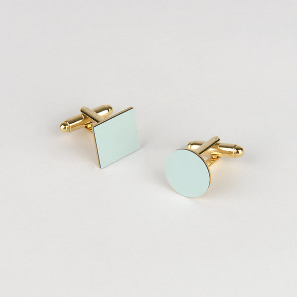 Mix Match Cufflinks - Ice Blue - Tom Pigeon