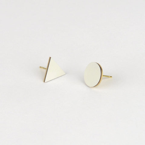 Mix Match Studs - Light Grey / White - Tom Pigeon