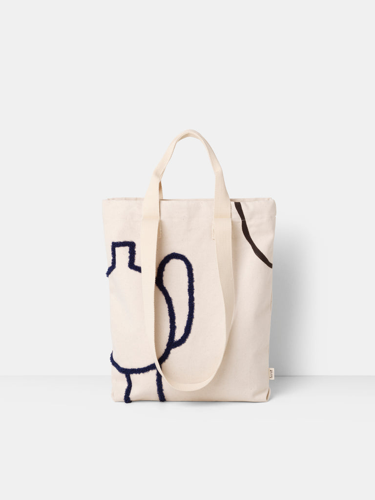 Tote Bag - Mirage - Black Blue by ferm Living