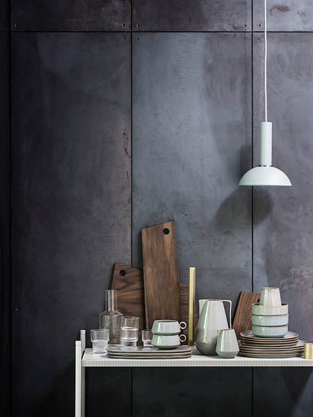 Large Grey Danish Plate 'Neu' by ferm Living