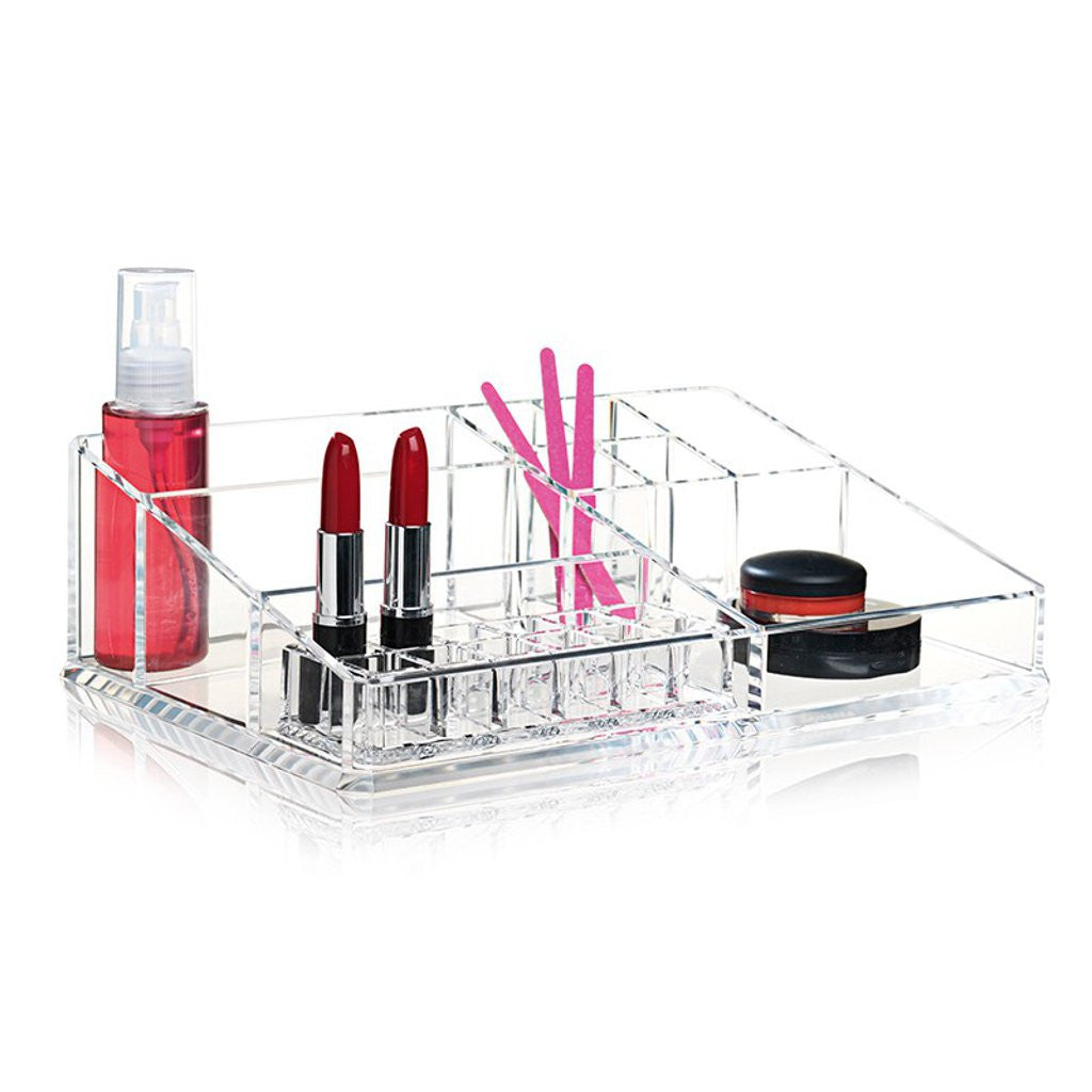 Clear acrylic make up organiser by Nomess