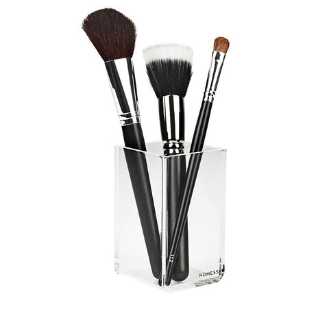 Clear acrylic make up brush pot by Nomess