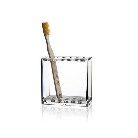 Clear acrylic toothbrush holder by Nomess