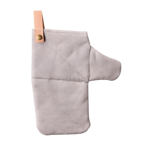 Organic Cotton Canvas Oven Glove in grey by ferm LIVING