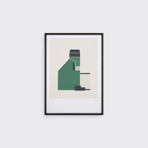 Tin Shed 3 - Screen Print - Tom Pigeon