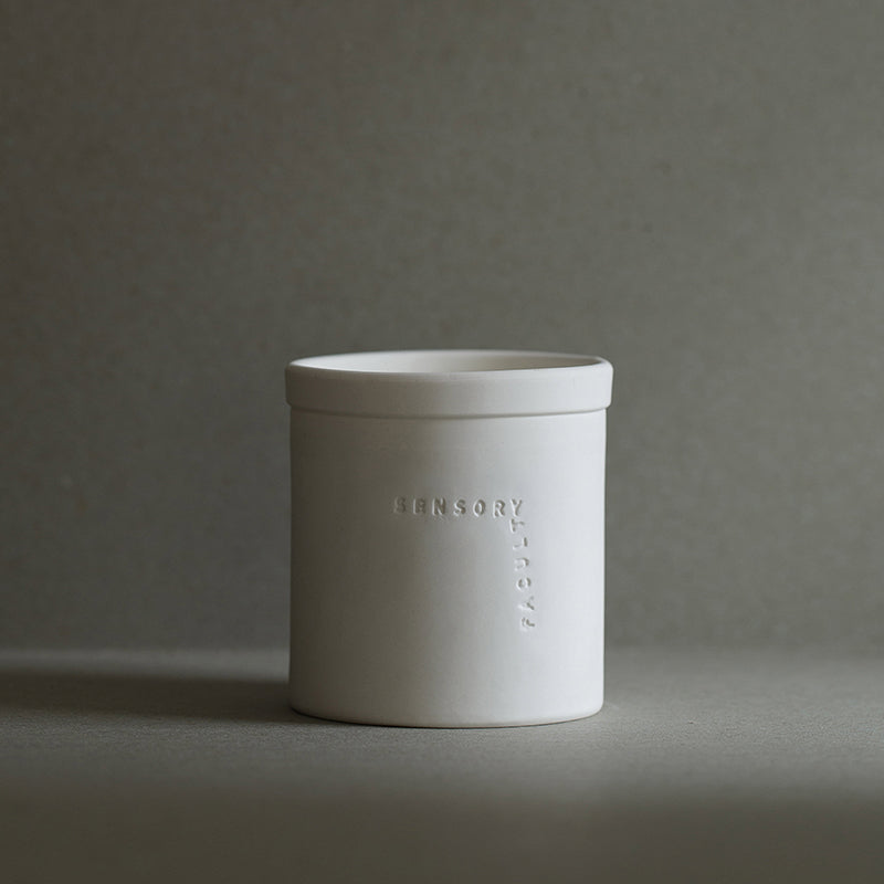 Soy candle Nonsense in white by SENSORY FACULTY