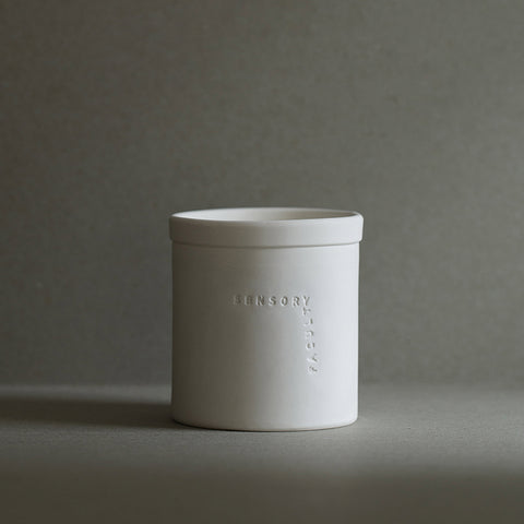 Soy candle Chronologer in white by SENSORY FACULTY