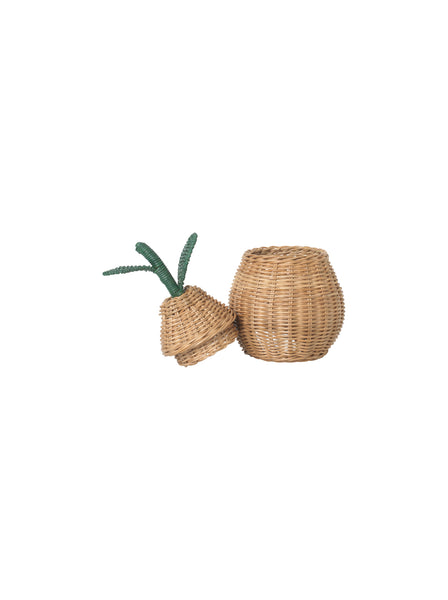 Small Pear Braided Storage Basket by ferm Living Kids