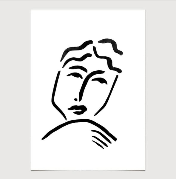 Face and Resting Hands Print by James Wilson