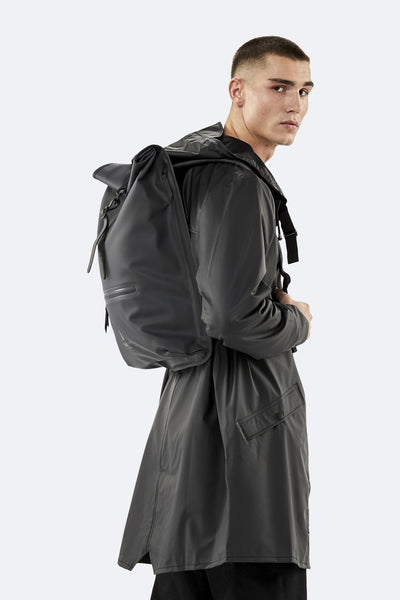 Rolltop Rucksack -  Black - by Rains