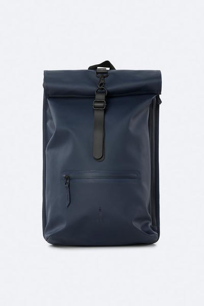 Rolltop Rucksack - Blue - by Rains