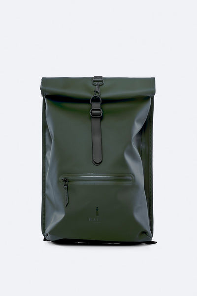 Rolltop Rucksack -  Dark Green - by Rains