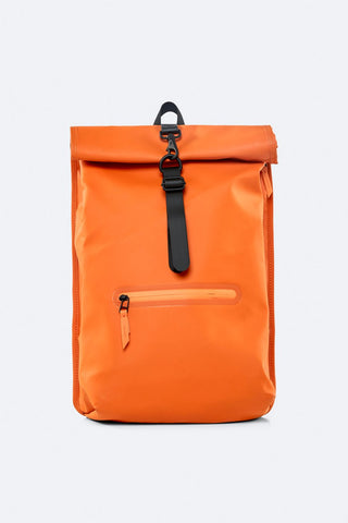 Rolltop Rucksack - Fire Orange - by Rains