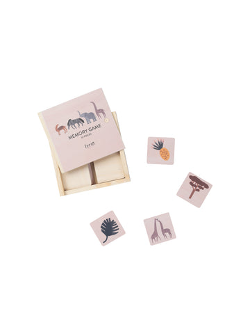 Wooden Safari Memory Game in Box by ferm Living Kids