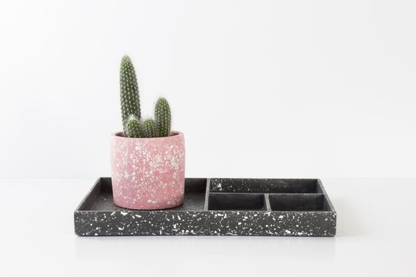 Terrazzo Tray - Large - White & Black by Salt Studios
