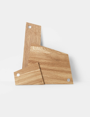 Asymmetric Cutting Board - Oiled - Small by ferm Living