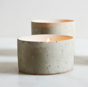 Concrete Cone - Tealight holder - Medium -  by Havelock Studio