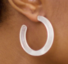 Midi Hoops in Quartz by Machete