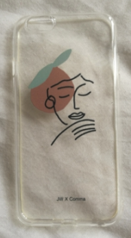 Harmony Face Line Drawing iPhone 7/8 Case by James Wilson