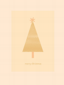 Merry Christmas Tree Card by Hattie Maud