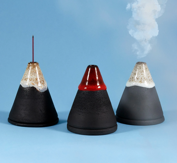 Smoke Mountain - Kilauea Volcano - Incense Burner -  by Studio Arhoj