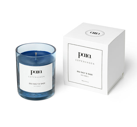 Sea Salt & Sage Soy luxury candle by Paia Copenhagen