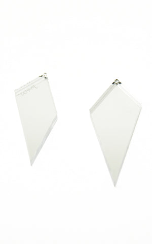 Shard Studs Earrings in Silver Mirror by Wolf & Moon