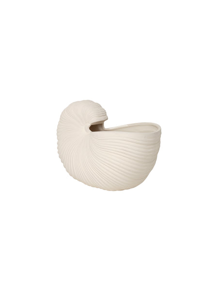 Shell pot / vase in off white by ferm Living