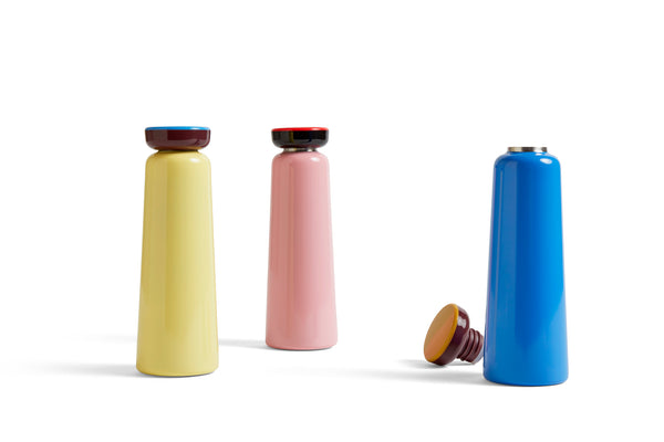 Sowden Bottle in Light Yellow - Hot or Cold drinks bottle - 350ml by HAY