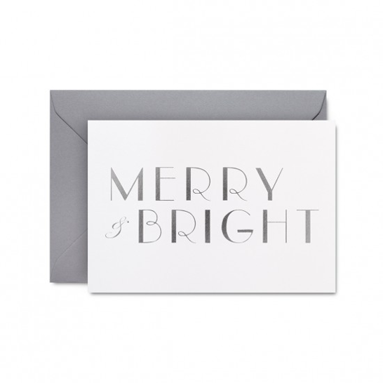 Merry and Bright card (white) by Studio Sarah