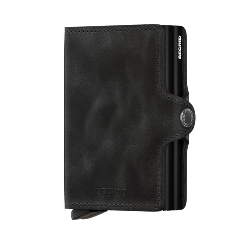 Twinwallet in Vintage Black by Secrid Wallets