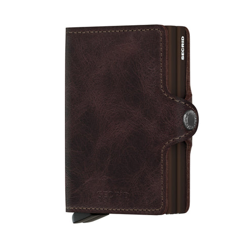 Twinwallet in Vintage Chocolate Brown by Secrid Wallets