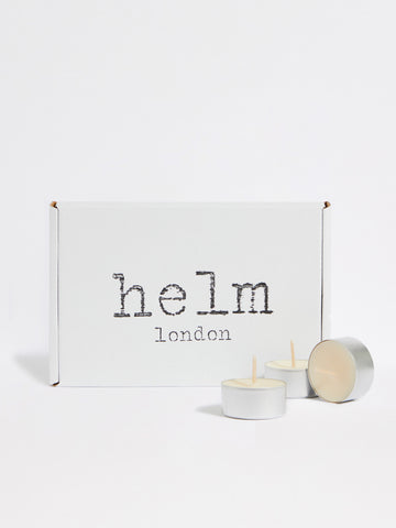Eucalyptus Soy Candle Tealights (set of 10) by Helm London