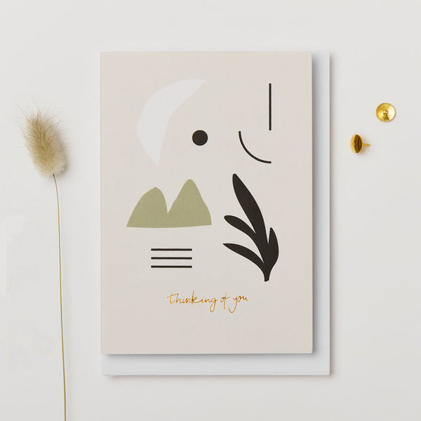 Thinking of you Card in compostable cello by Kinshipped