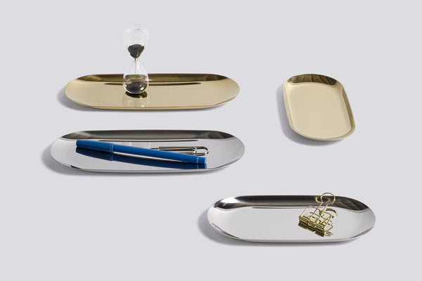 Tray Silver Small by HAY