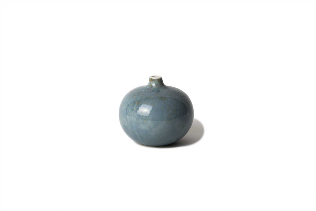 Vase ' Bari ' small with Freckles in Light Blue by Lindform