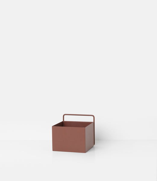 Wall plant box square in red brown by ferm LIVING