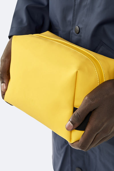 Waterproof Yellow Wash Bag -  Small - by Rains