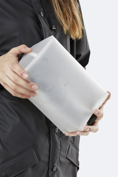 Waterproof Foggy White Wash Bag - Small - by Rains