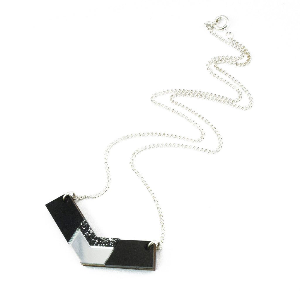 Inlaid chevron V necklace Wolf by Wolf & Moon