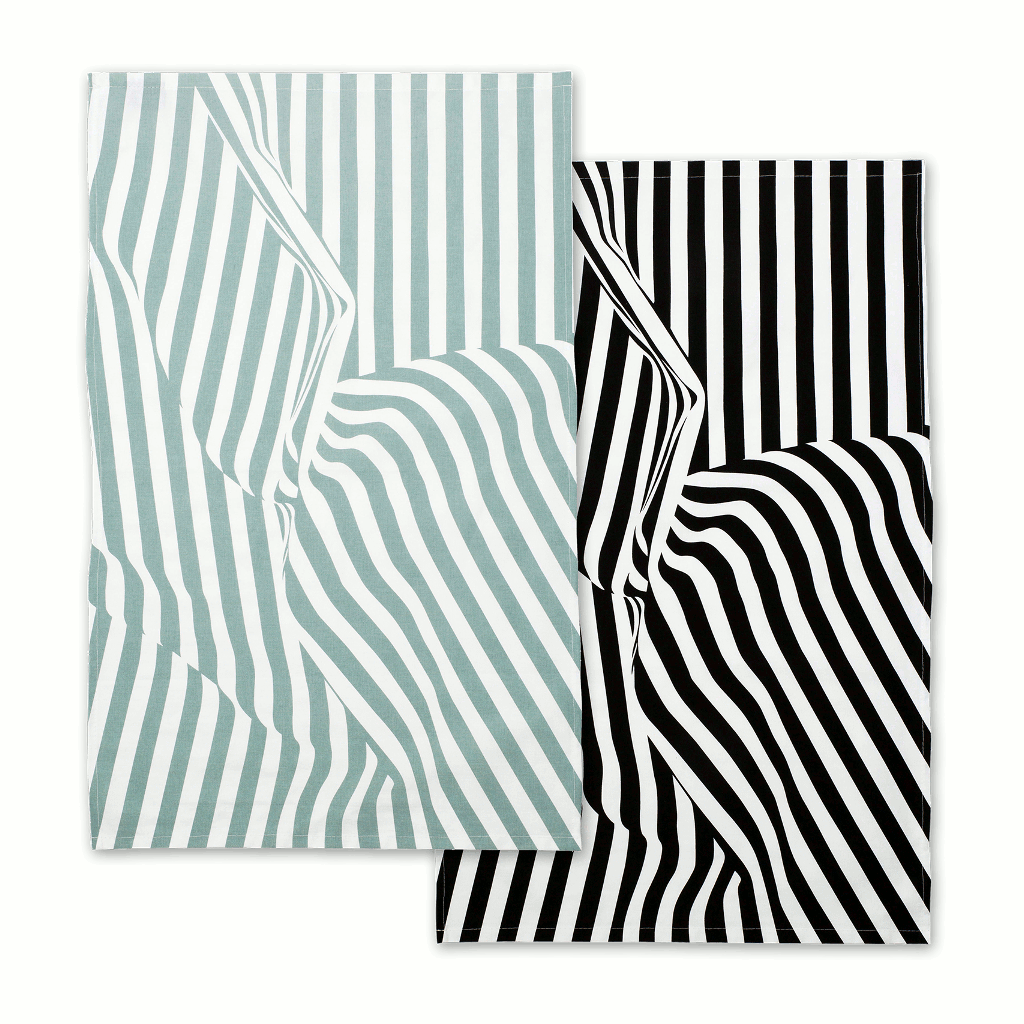 Between The Lines Screen Printed T-Towels by Above & Beyond