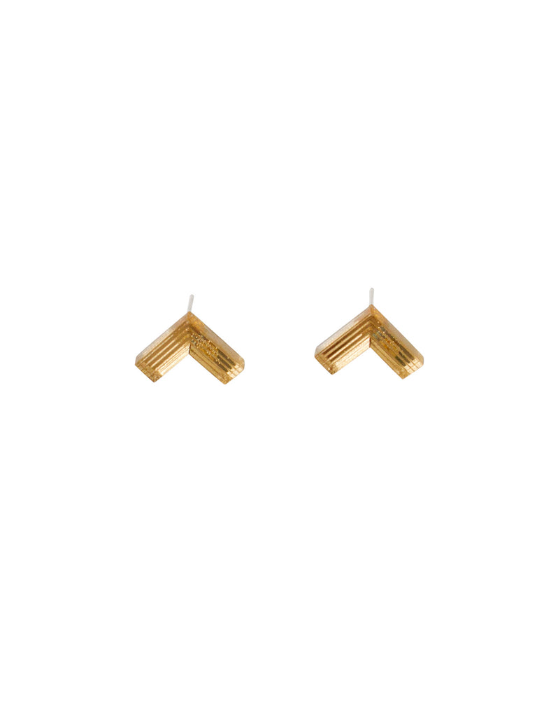 Arrow stud earrings - gold/silver/green by Wolf & Moon