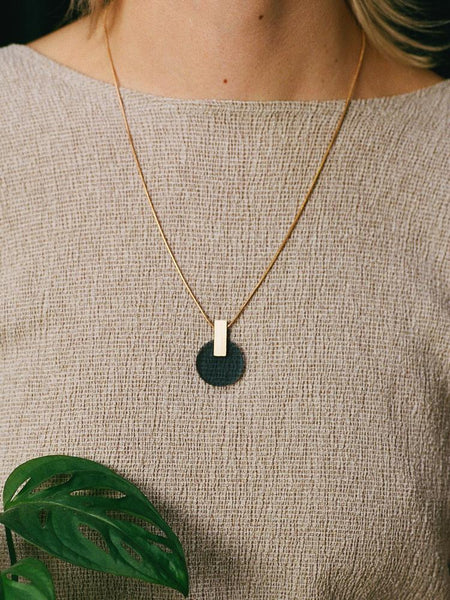 Aura necklace in Navy by Wolf & Moon