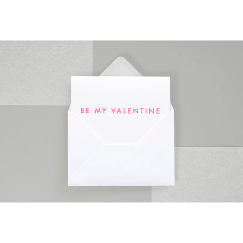 Be My Valentine card pink by Ola