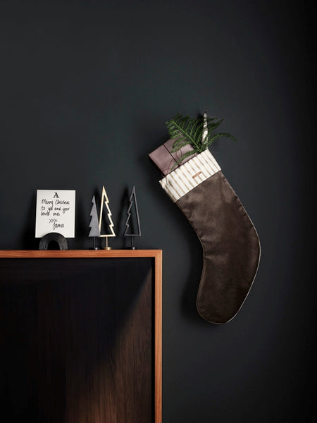 Winterland Black Brass Tree Solid Ornament by ferm Living