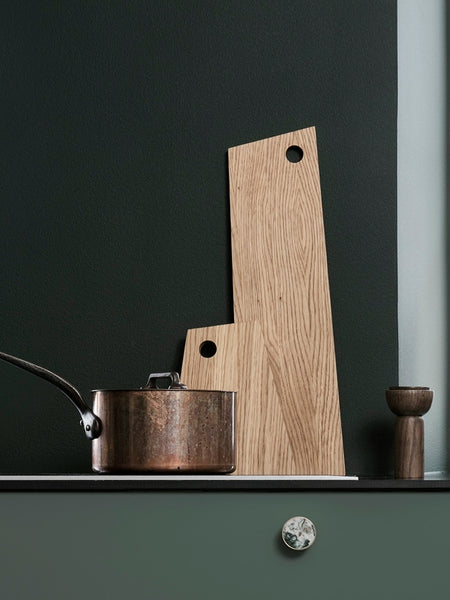 Drupe pepper or salt mill in smoked ash wood by ferm Living