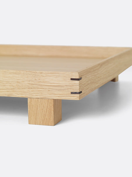 Bon tray in light oak with legs by ferm LIVING